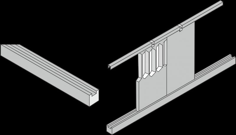 Ограждения для бетонного щелевого пола