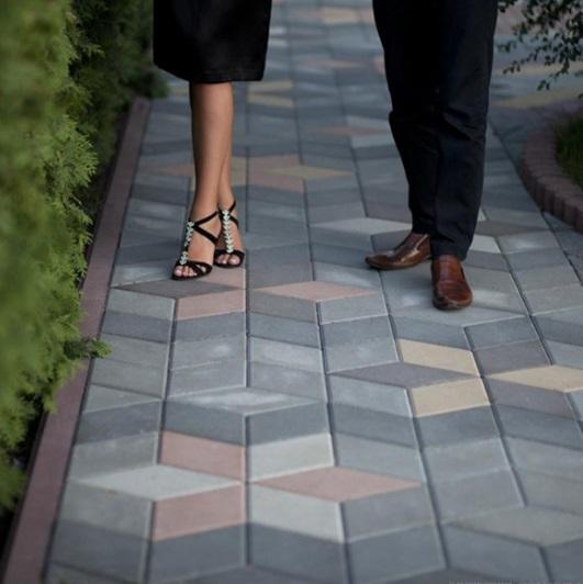 Тротуарная плитка Ромб
